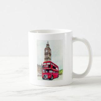 London Bus and Big Ben Coffee Mug