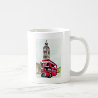 London Bus and Big Ben Coffee Mugs