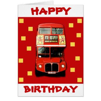 London Bus Birthday Card 01