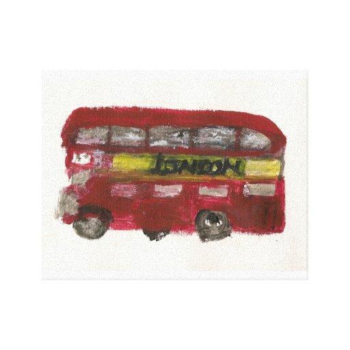 London Bus Canvas Prints