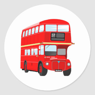 London Bus Classic Round Sticker