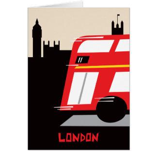 London Bus Greeting Card