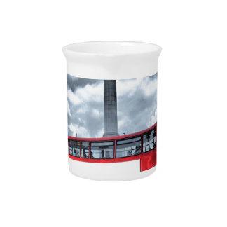 LONDON BUS in Black & White (St.K) Pitcher