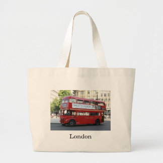 London bus large tote bag