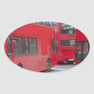 London Bus Oval Stickers