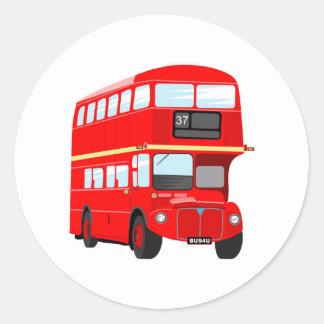London Bus Round Sticker