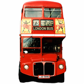 London Bus Sculpture Magnet Photo Sculpture