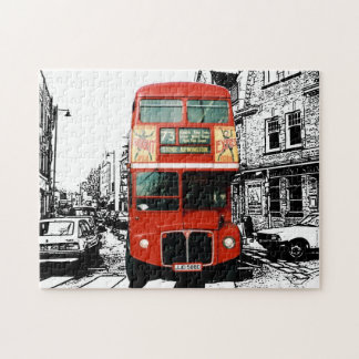 London Bus Spot Colour Jigsaw Puzzle
