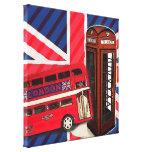 london bus telephone booth british fashion canvas print