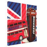 london bus telephone booth british fashion canvas prints
