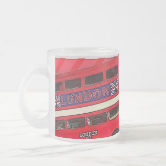 london bus telephone booth fashion british flag frosted glass mug