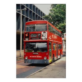 London Buses Daimler rests between duties at Eusto Poster
