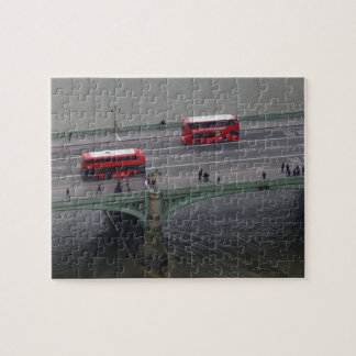 London Busses on Bridge Jigsaw Puzzle