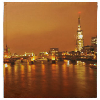 London by night napkin