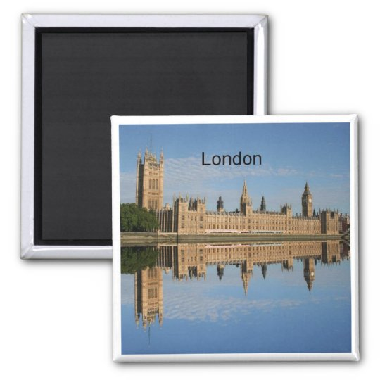 London (by St.K) Square Magnet