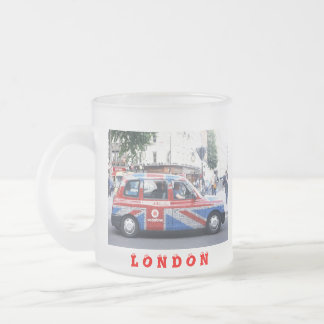LONDON CAB FROSTED GLASS COFFEE MUG