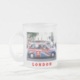 LONDON CAB FROSTED GLASS MUG