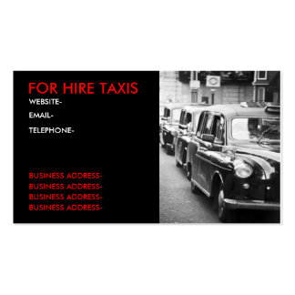 London cabbies pack of standard business cards
