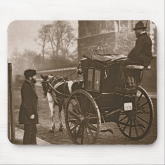 London Cabmen, from 'Street Life in London', 1877- Mousepads