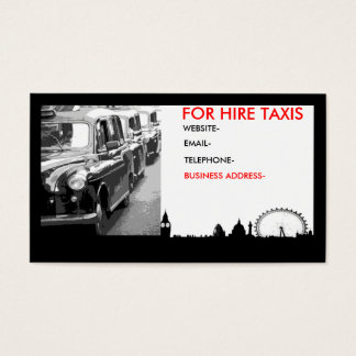 London cabs business card