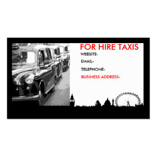 London cabs pack of standard business cards