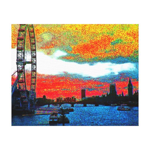 London Calling Stretched Canvas Prints