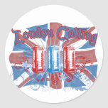 London Calling Classic Round Sticker