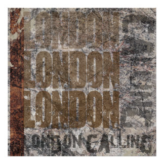 London Calling Graphic Grunge Art Design Poster