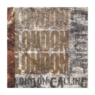 London Calling Grunge Collage Art Texture Canvas Prints