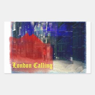 London Calling Rectangular Sticker