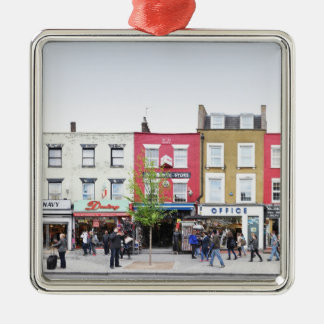 London Camden Town Market UK Silver-Colored Square Decoration