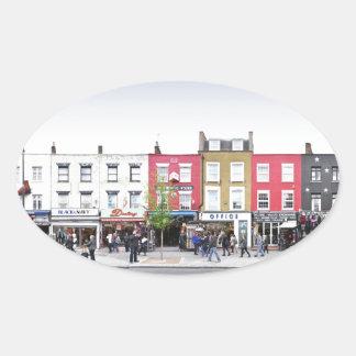 London Camden Town Market UK Oval Sticker