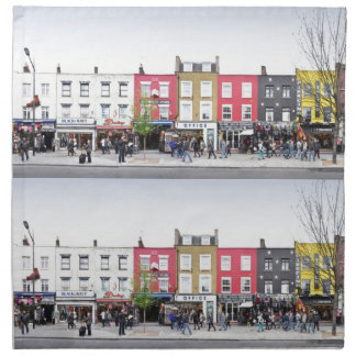 London Camden Town Market UK Printed Napkin