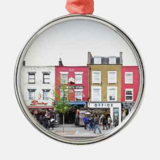 London Camden Town Market UK Silver-Colored Round Decoration
