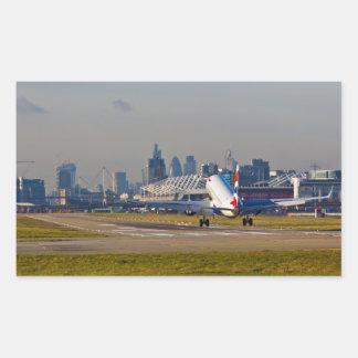 London city Airport Rectangular Sticker