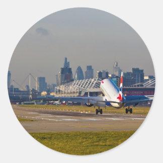 London city Airport Round Sticker