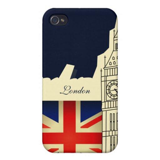 London City Big Ben Great Britain Flag iPhone 4 Cases