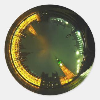 london city big ben parliament landmark british round sticker