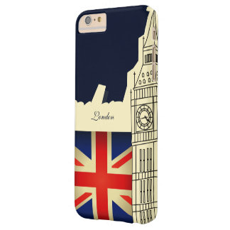 London City Big Ben Union Jack Flag Barely There iPhone 6 Plus Case
