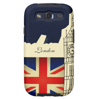 London City Big Ben Union Jack Flag Samsung Case Samsung Galaxy S3 Covers