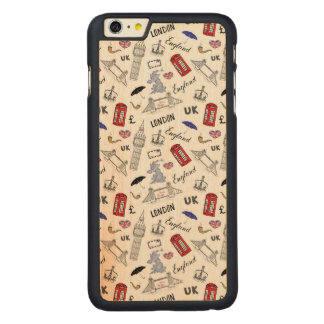 London City Doodles Pattern Carved® Maple iPhone 6 Plus Case