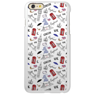 London City Doodles Pattern iPhone 6 Plus Case