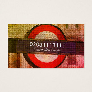 London City Mosaic Effect Taxi Service Business Card