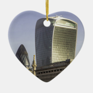 London City Skyline Christmas Ornament