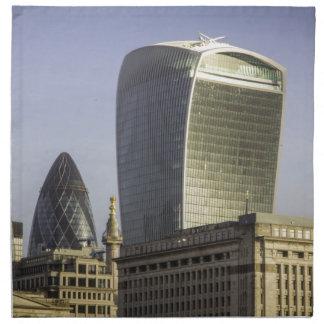 London City Skyline Napkin