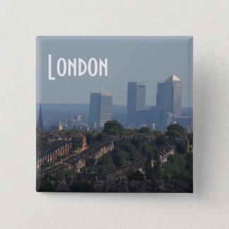 London Cityscape - Canary Wharf photo 15 Cm Square Badge