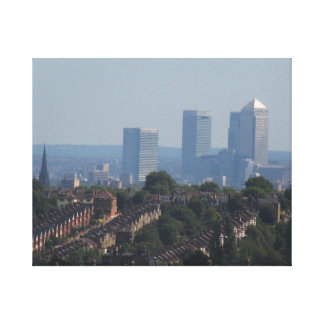 London Cityscape - Canary Wharf photo Stretched Canvas Print