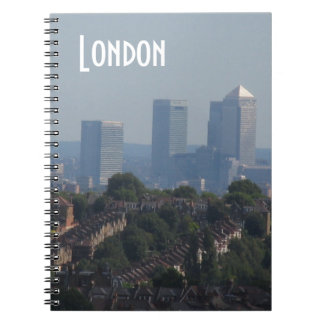 London Cityscape - Canary Wharf photo Notebooks