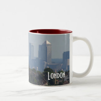 London Cityscape - Canary Wharf photo Two-Tone Coffee Mug