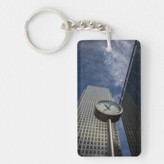 London Clock Double-Sided Rectangular Acrylic Key Ring
